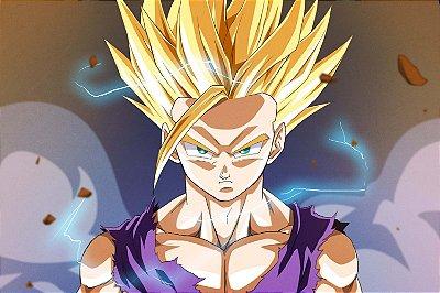 Quadro Dragon Ball - Gohan Super Saiyajin 2