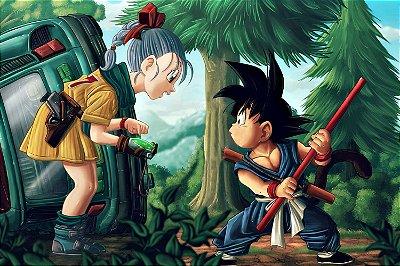 Quadro Dragon Ball - Goku e Bulma