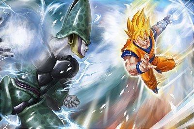 Quadro Dragon Ball - Goku vs Cell