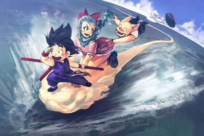Quadro Dragon Ball - Goku e Bulma 2