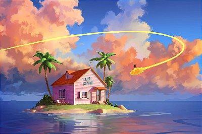 Quadro Dragon Ball - Kame House