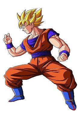 Quadro Dragon Ball - Goku Super Saiyajin
