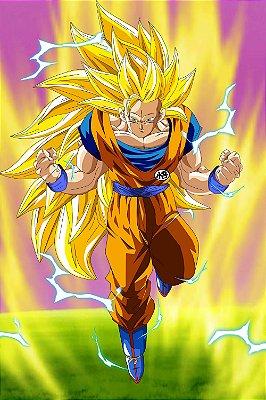 Quadro Dragon Ball - Goku Super Saiyajin 3