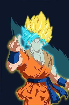 Quadro Dragon Ball - Goku Minimalista