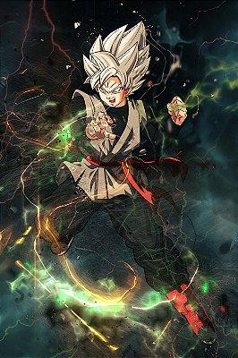 Quadro Dragon Ball - Goku Black Super Saiyajin Rosé