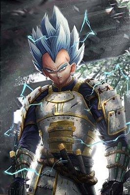 Quadro Dragon Ball - Vegeta Samurai
