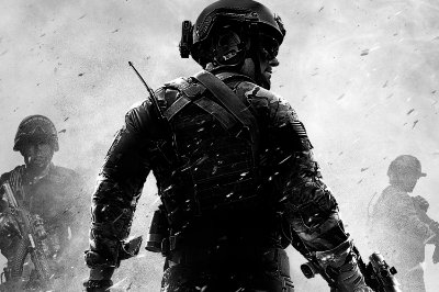 Quadro Gamer Call of Duty - Preto e Branco