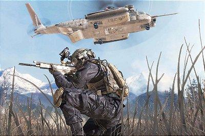 Quadro Gamer Call of Duty - Helicóptero