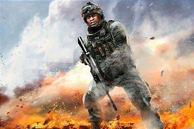 Quadro Gamer Call of Duty - Soldado