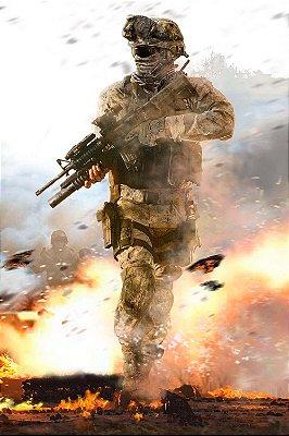 Quadro Gamer Call of Duty - Soldado Vertical