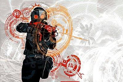 Quadro Gamer - Counter Strike Artístico