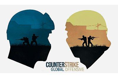 Quadro Gamer - Counter Strike Minimalista