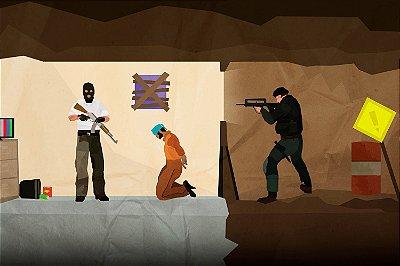 Quadro Gamer - Counter Strike Desenho 2