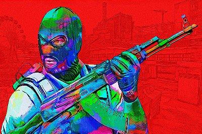 Quadro Gamer - Counter Strike Artístico 4