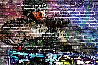 Quadro Gamer - Counter Strike Grafite na Parede