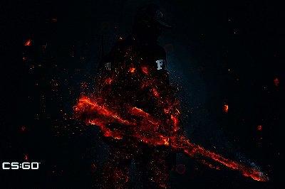 Quadro Gamer - Counter Strike Sniper Artístico 2