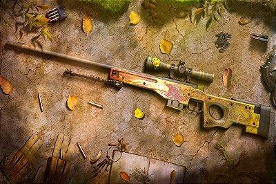 Quadro - Counter Strike Sniper AWP Dragon Lore