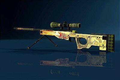 Quadro - Counter Strike Sniper AWP Dragon Lore 2