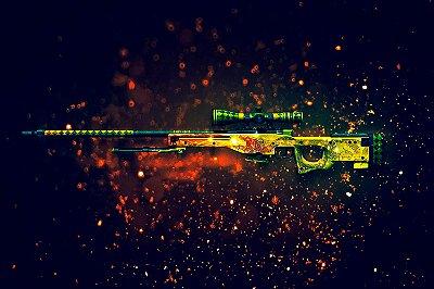 Quadro - Counter Strike Sniper AWP Dragon Lore 3