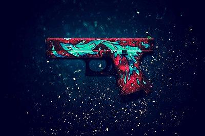 Quadro Counter Strike - Glock Wader Elemental