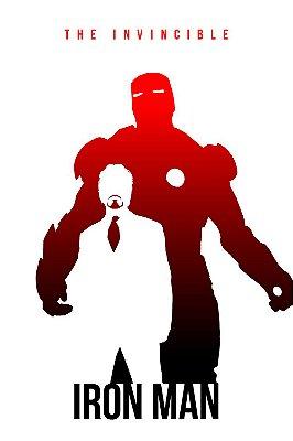 Quadro Homem de Ferro - Minimalista