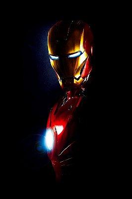 Quadro Homem de Ferro - Black