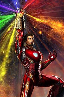 Quadro Iron Man - Manopla do Infinito