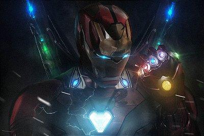 Quadro Iron Man - Manopla do Infinito 2