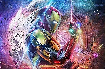 Quadro Iron Man - Manopla do Infinito 4