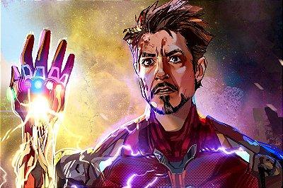 Quadro Iron Man - Manopla do Infinito 5