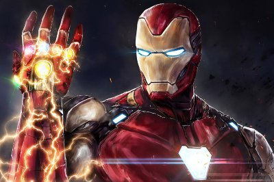 Quadro Iron Man - Manopla do Infinito 6