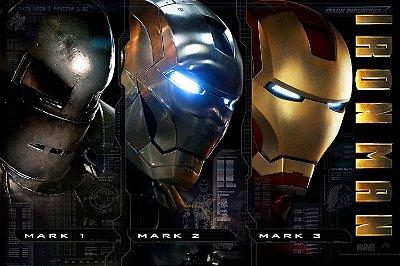 Quadro Homem de Ferro - Armaduras 3