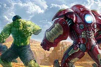 Quadro Iron Man - Hulkbuster vs Hulk