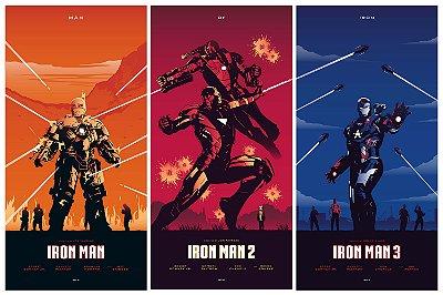 Quadro Homem de Ferro - Filmes Minimalistas
