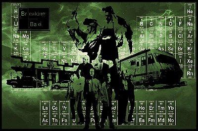 Quadro Breaking Bad - Tabela Periódica