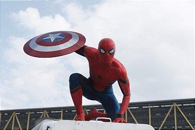 Quadro Homem Aranha - Escudo Capitão América