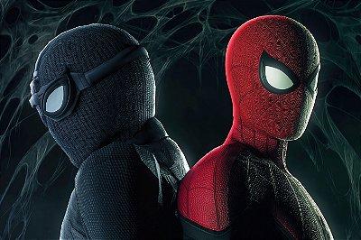 Quadro Homem Aranha - Traje Furtivo e Stark Original