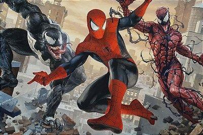 Quadro Homem Aranha - Venom e Carnificina
