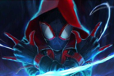 Quadro Homem Aranha - Aranhaverso Miles Morales 3