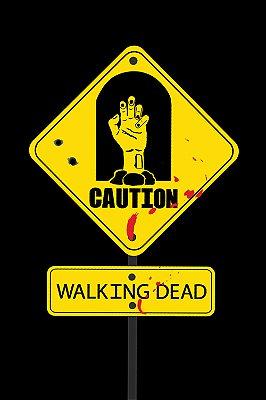 Quadro The Walking Dead - Placa Cuidado