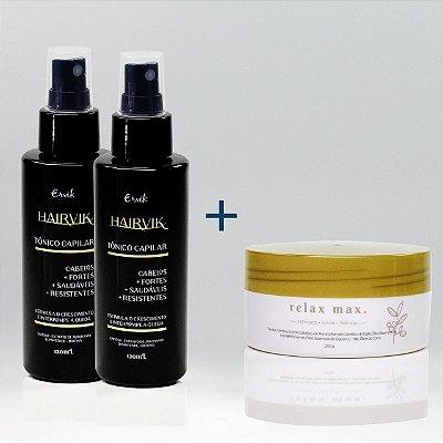 Na compra de 2 Hairvik, GANHE 1 Relax Max