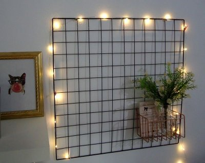 Memory board + fio de led + mini pregadores