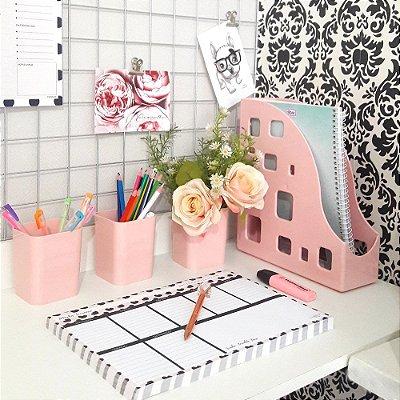 Kit organizador rosa delicado