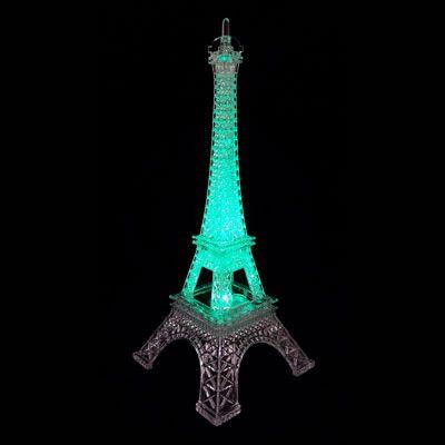 Luminária torre eiffel led colorido