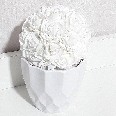 Vaso cachepô jasmini Branco