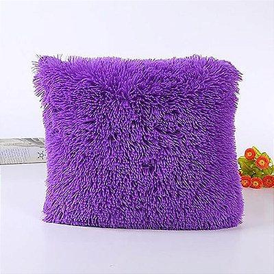 Almofada pelúcia roxa