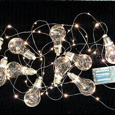 Luminária cordão de luz mini lâmpadas
