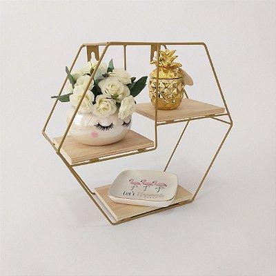 Prateleira nicho hexagonal