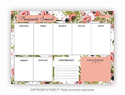 Planner de mesa semanal floristry II