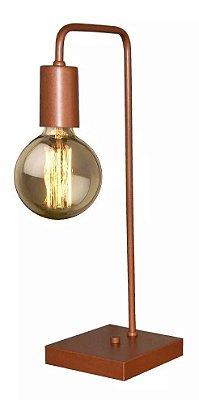 Luminária de Mesa Minimalista Inox